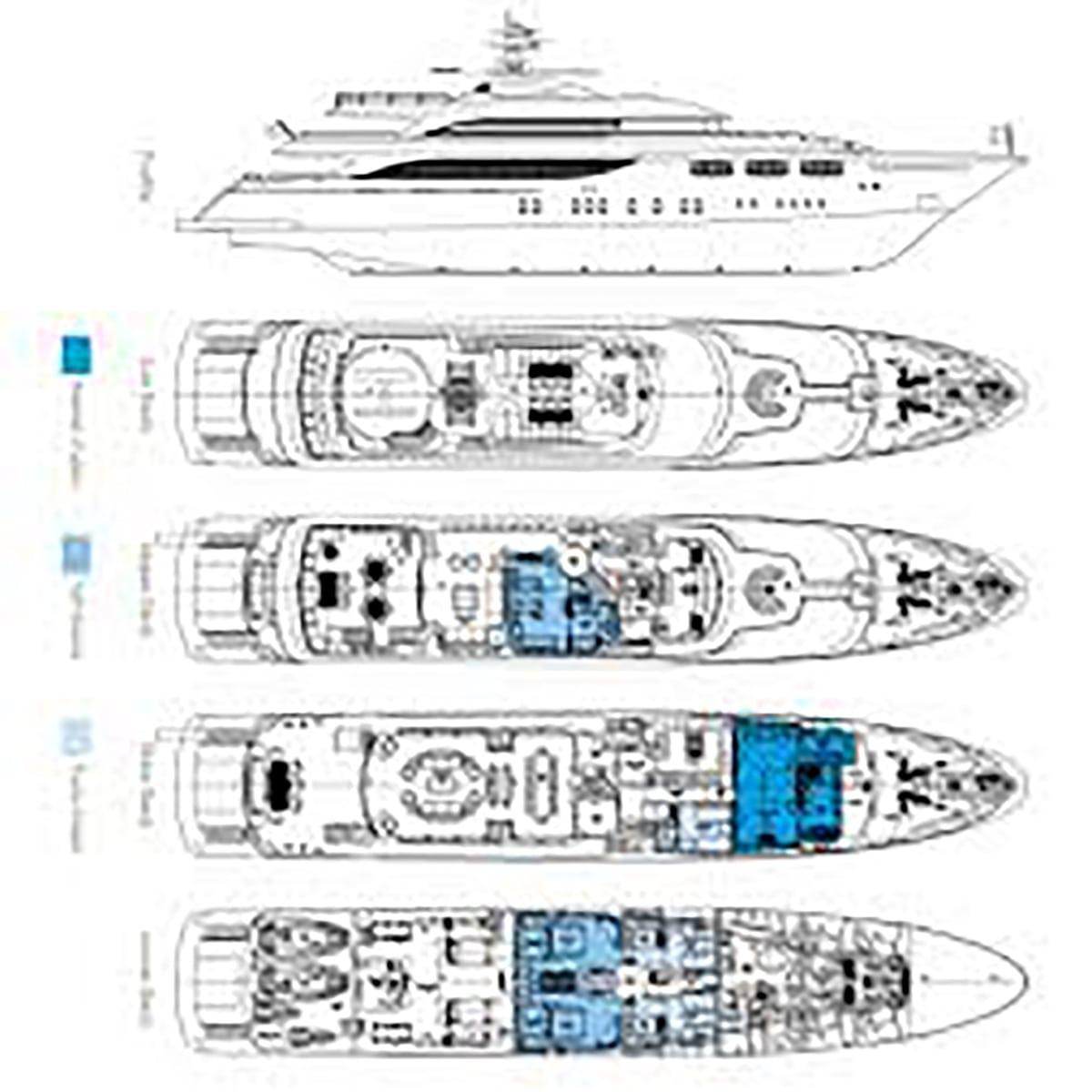 Golden Yachts O'Neiro 53m Layout