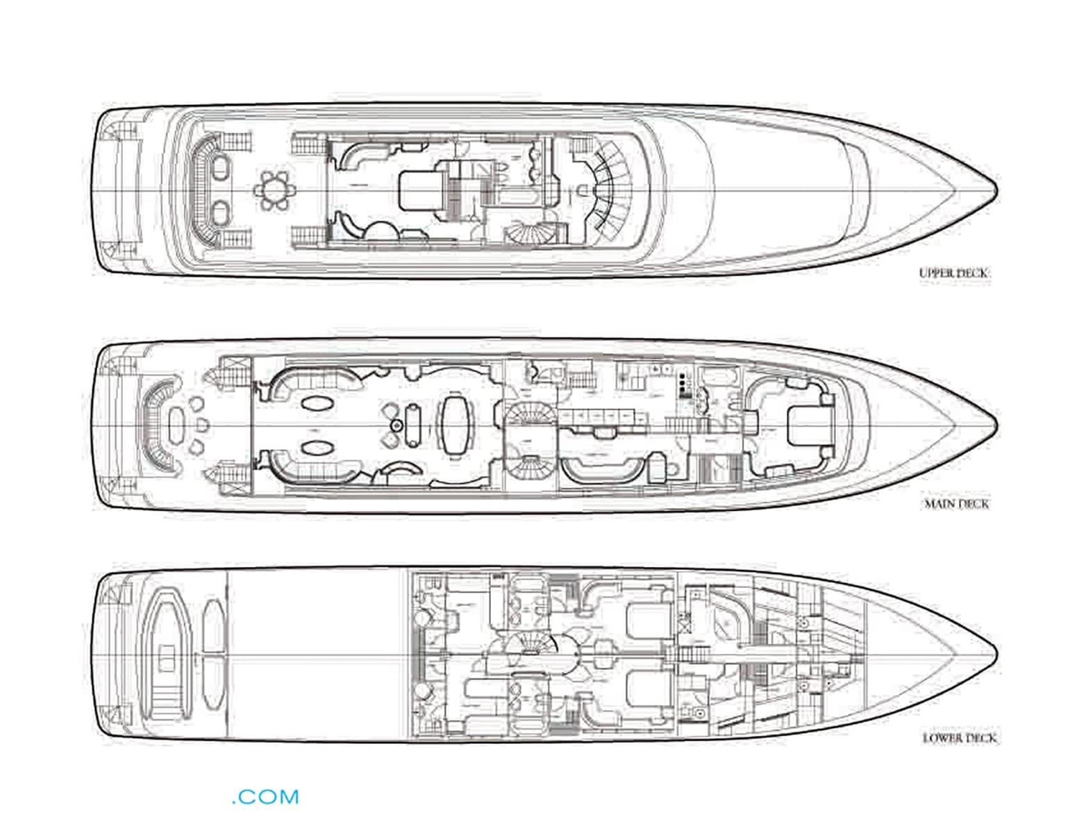Intermarine 42m JAAN Layout